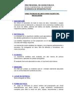 Especificaciones Tecnicas Arcos de Fulbito