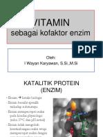 Vitamin Sebagai Kofaktor Enzim