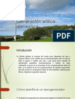 Generación Eólica Domestica