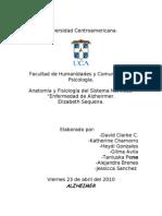 Trabajo de Anatomia y Fisiologia Del Sistema Nervioso- ALZHEIMER
