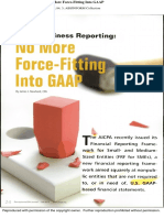 Small Business Reporting-No More Force-Fitting Into GAAP(1)