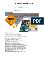 CSS 2017 Solved Paper