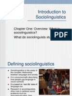 Intro Sociolinguistics