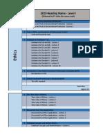 2019 Level I IFT Study Planner