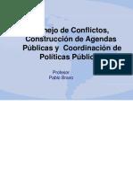 Conflictos, Agendas y Coordinacion