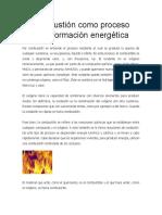 La Combustión Como Proceso de Transformación Energética
