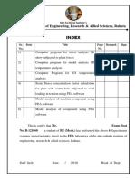 Index- Fea Shubham