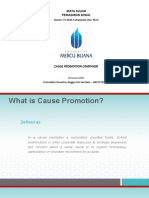 Cause Promotion Program