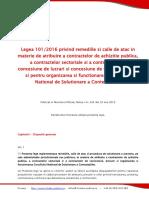 Legea 1012016 Privind Remediile Si Caile de Atac in Materie de Atribuire a Contractelor de Achizitie Publica a Contractelor Sectoriale Si a Contractelor de Concesiune