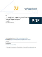 A Comparison of Obesity Interventions Using Energy Balance Models