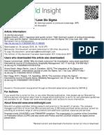International Journal of Lean Six Sigma