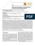 Effect of Finishing Machine Parameters on Dimensional
