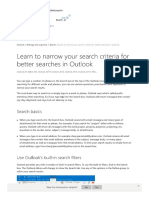 Learn to narrow your search criteria for better searches in Outlook - Outlook.pdf