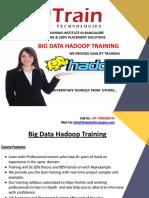 Hadoop Training in Bangalore   Hadoop training certification course in BTM, Marathahalli