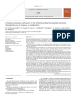A Techno-economic Assessment of the Reduction of Carbon Dioxide Emissions Through the Use of Biomass Co-combustion