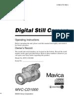 Sony Mvc Cd1000 Manual