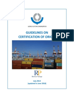 Guidelines on Certification