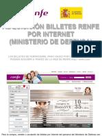 Tutorial Compra Billetes Renfe Por Internet Limpio