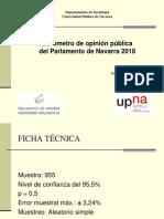 Presentación Navarrómetro 2018
