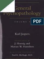 General Psychopatology - Vol 1 - Jaspers.pdf