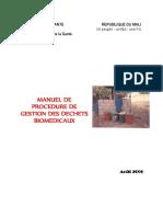 Manuel de Procédures de gestion des Déchets biomédicaux