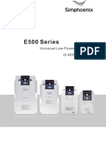 Invertor -e500 - Simphoenix Manual