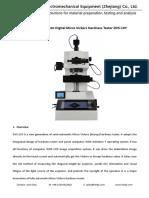 Semi-automatic Digital Micro Vickers hardness testing machine (tester) DVS-1XY