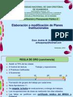 1 Elaboración o Modificación de Planes Institucionales
