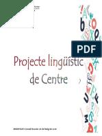 Projecte Lingüístic de Centre de l'Escola Elisa Badia
