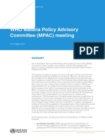 WHO - 2017 - MPAC Meeting Notes - October 2017