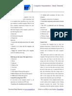 Computer Organization – Study Material