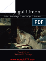 Conjugal Union What Marriage is and Why It Matters
