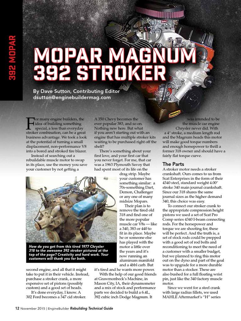 318-392 stroker 12-17-Mopar | Transportation Engineering