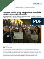 Los Juristas Estudian Rebajar La Pena Máxima Por Violación Para Que Sea Menor Que El Homicidio _ Sociedad _ EL PAÍS