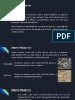 Stone Masonry Metals