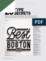 20 Type Secrets