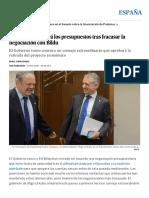 Urkullu Prorrogará Los Presupuestos Tras Fracasar La Negociación Con Bildu _ España _ EL PAÍS