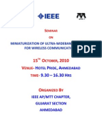 IEEE Seminar APMTT October10