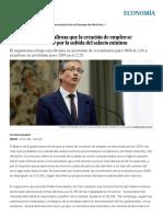 El Banco de España Afirma Que La Creación de Empleo Se Desacelerará en 2019 Por La Subida Del Salario Mínimo _ Economía _ EL PAÍS