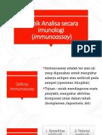 2.Teknik Analisa Secara Imunologi (Immunoassay)