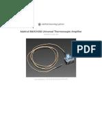 Adafruit Max31856 Thermocouple Amplifier