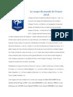 Le Coupe Du Monde de France 2018