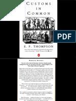 Customs in Common Complete E.P Thompson