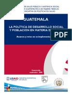 Planeamiento Educativo y Poblacion en Materia de Salud