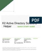 K2 Active Directory Solutions Helper - Quick Start