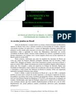 História Da Matemática No Brasil - Artigo Escolas Jesuítas
