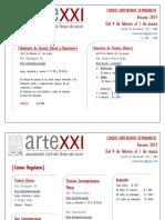 ARTEXXI - Cursos Verano2019