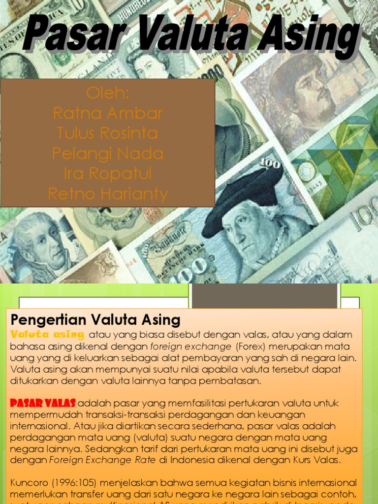 mata uang atau pasar valas