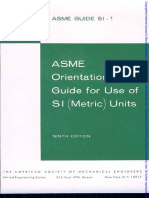 ASME Standards Metric System SI-1-1982