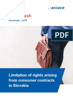 Limitation of rights arising from consumer contracts in Slovakia | News Flash